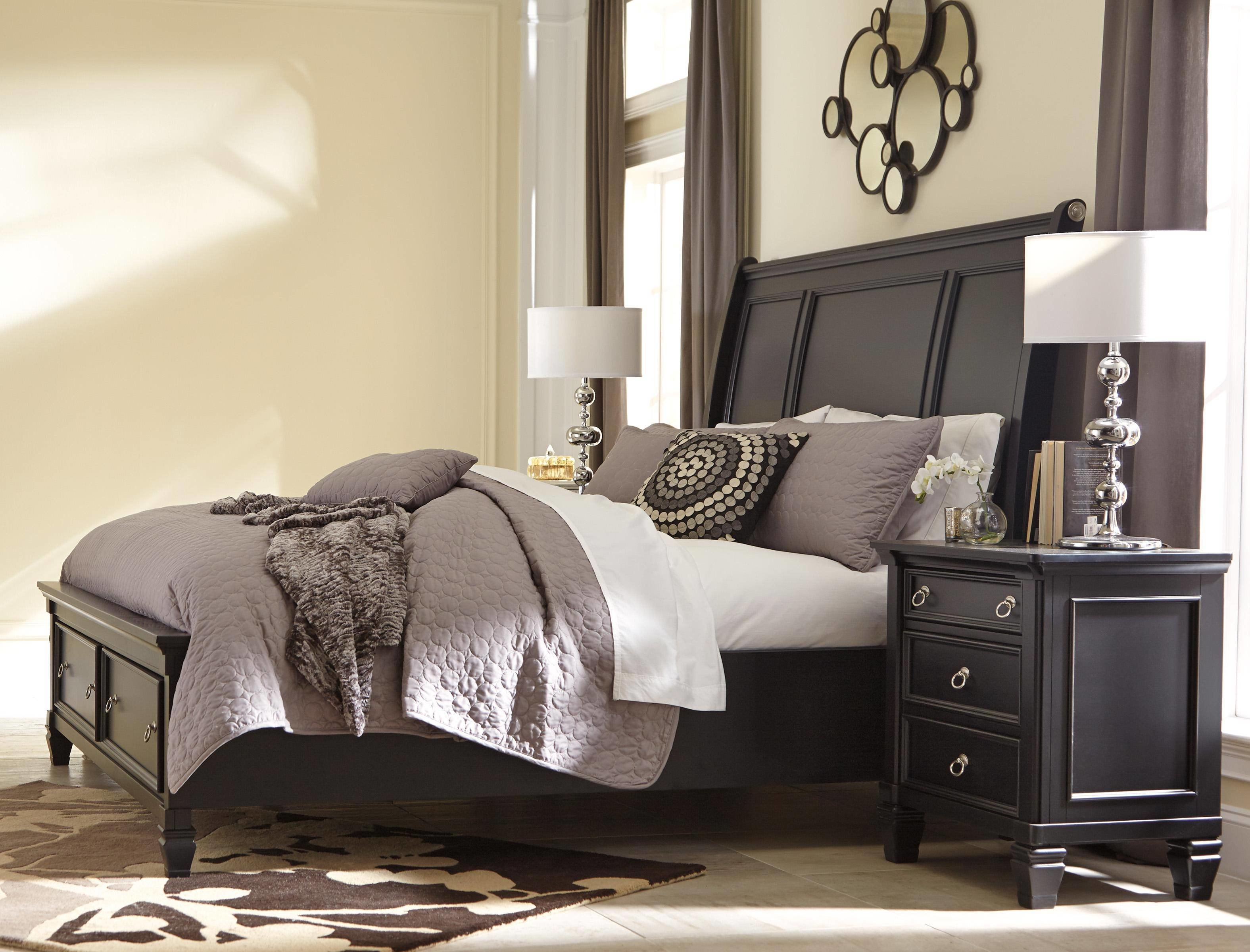 Best Ashley Greensburg B671 King Size Sleigh Bedroom Set 3Pcs With Pictures