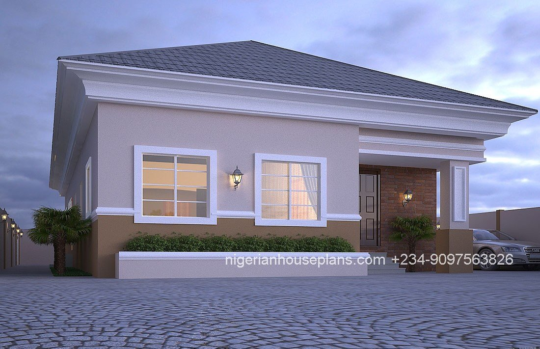 Best 4 Bedroom Bungalow Ref 4012 Nigerianhouseplans With Pictures