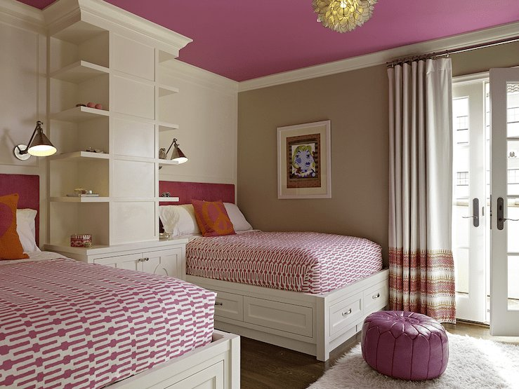 Best Purple Ceiling Contemporary Girl S Room Artistic With Pictures