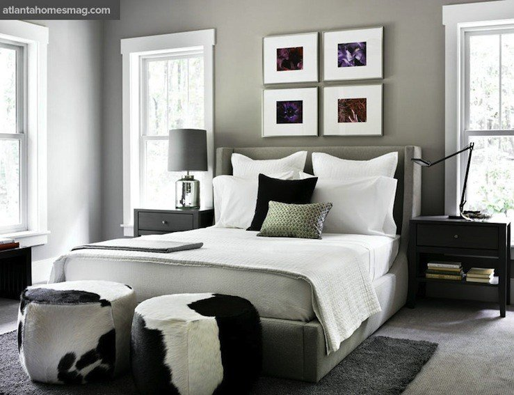 Best Cowhide Stools Contemporary Bedroom Atlanta Homes With Pictures