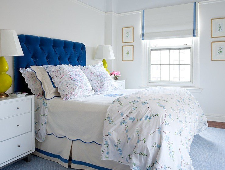 Best Cobalt Blue Headboard Contemporary Bedroom Lilly With Pictures