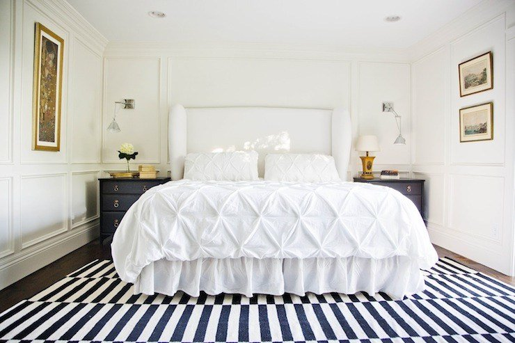 Best White Upholstered Headboard Contemporary Bedroom With Pictures