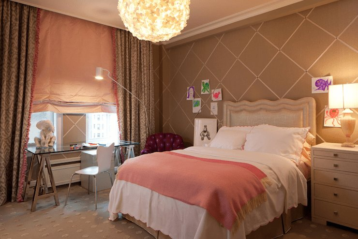 Best Pink And Brown Girl S Room Contemporary Girl S Room With Pictures