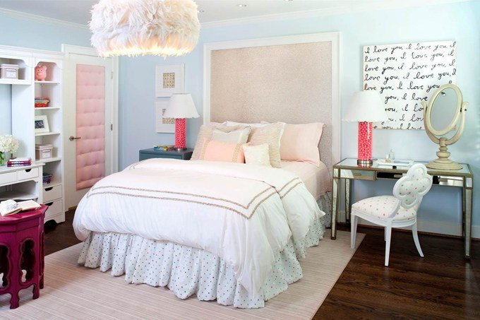 Best Pink And Blue T**N Bedroom Contemporary Girl S Room Kristin Peake Interiors With Pictures