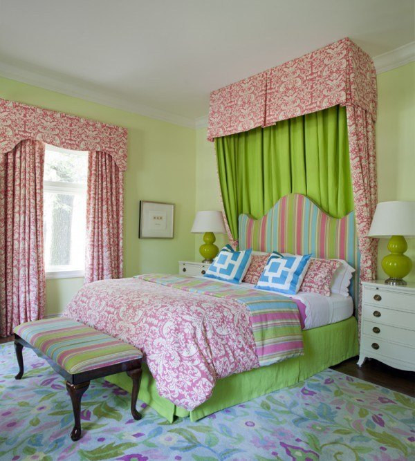 Best Pink And Green Girl S Bedding Contemporary Girl S Room Tobi Fairley With Pictures