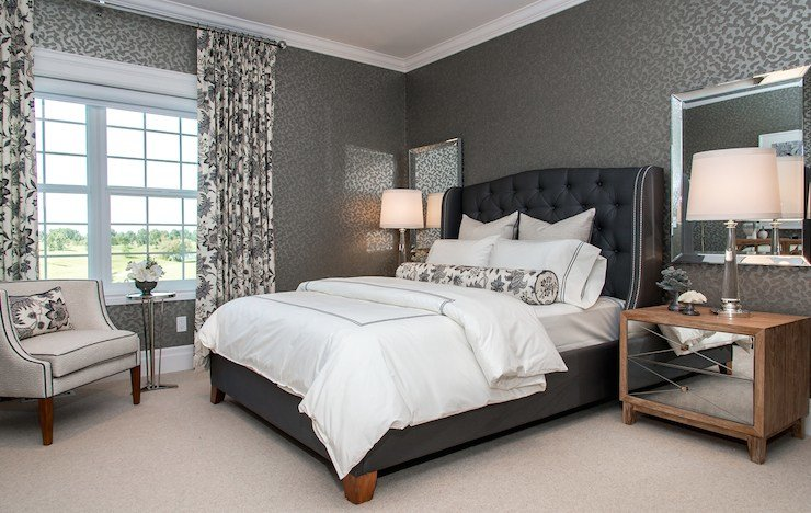 Best Blue And Gray Bedroom Contemporary Bedroom With Pictures