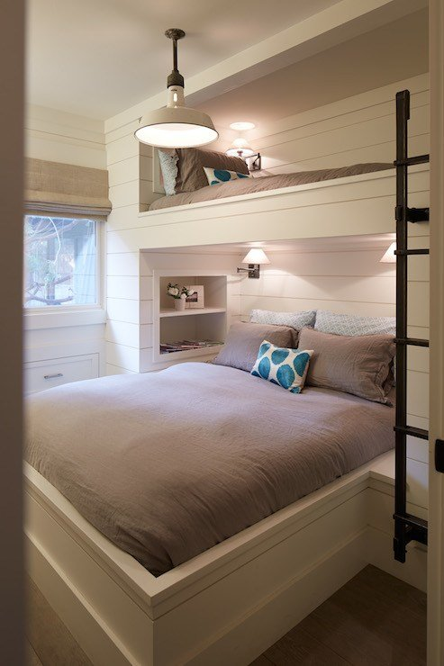 Best Built In Bunk Beds Cottage Bedroom Artistic Designs With Pictures