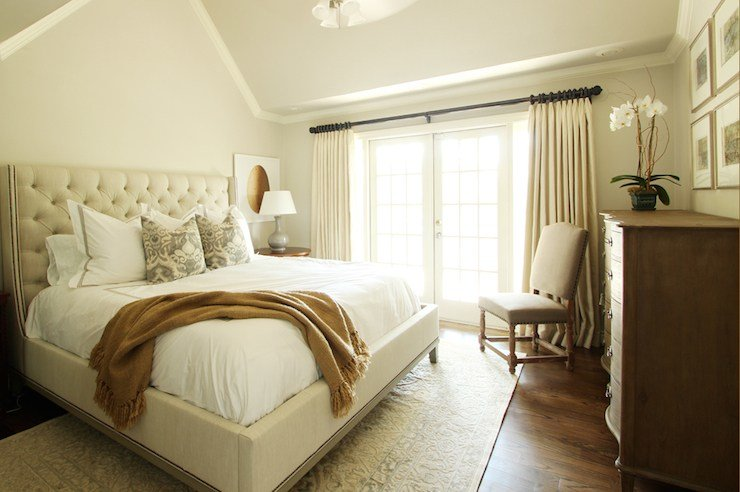 Best Gray Bedroom With Ivory Curtains Design Ideas With Pictures