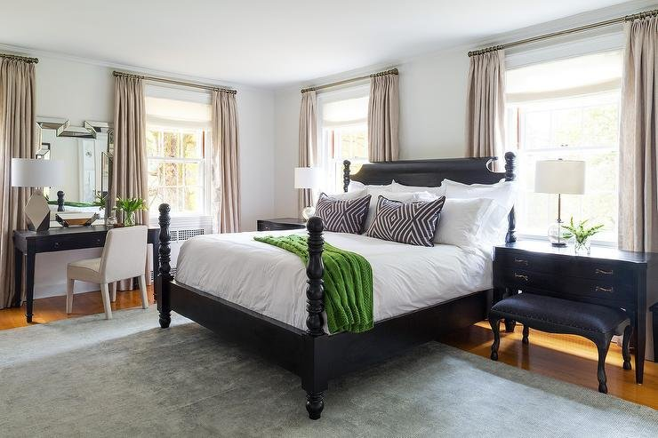 Best Black Poster Bed Eclectic Bedroom Chango Co With Pictures