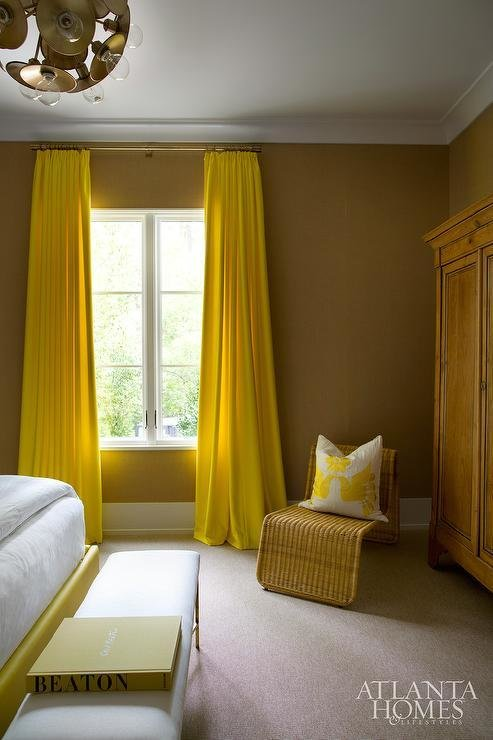 Best Yellow Bedroom Curtains Contemporary Bedroom With Pictures