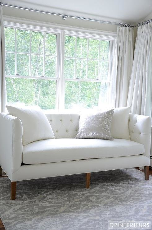 Best White And Grey Bedroom With White Tufted Sofa With Pictures