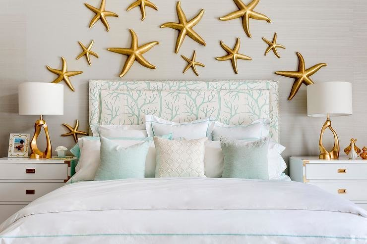 Best Gray And Gold Bedroom With Mint Green Bedding With Pictures