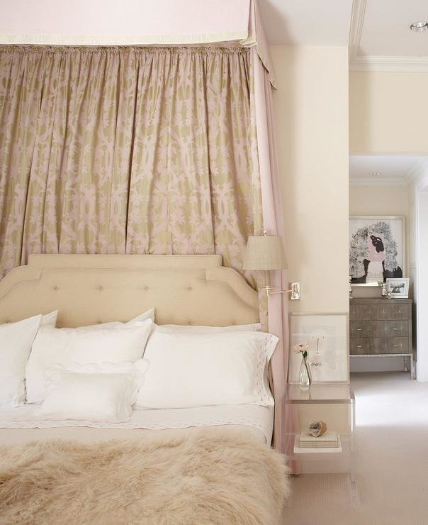 Best Beige And Pink Romantic Bedroom Design Transitional With Pictures