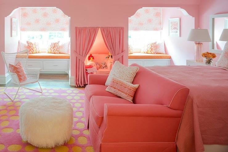 Best Hot Pink And Orange Kid Bedroom Design Ideas With Pictures