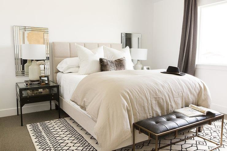 Best Cream And Black Bedroom Design Transitional Bedroom With Pictures