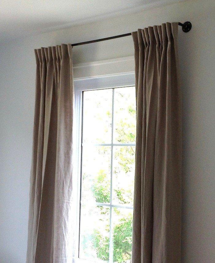 Best Diy How To Make A Copper Pipe Curtain Rod For 35 Remodelista With Pictures