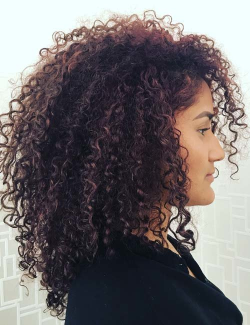 Free 20 Amazing Layered Hairstyles For Curly Hair Wallpaper