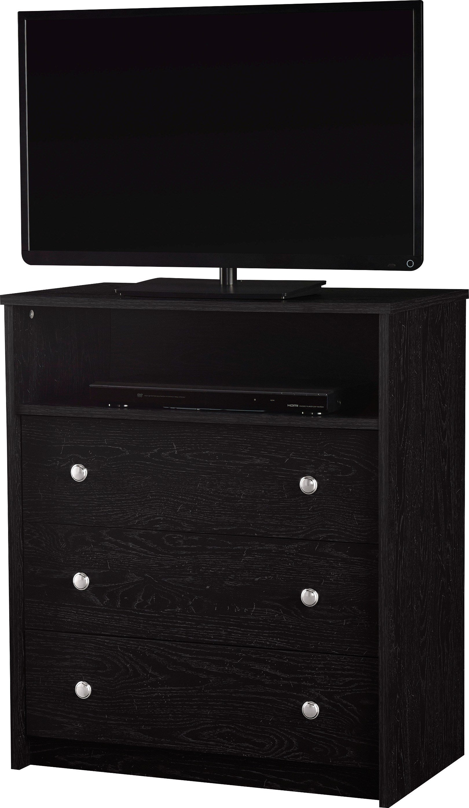 Best Essential Home Belmont Highboy Tv Stand Black With Pictures
