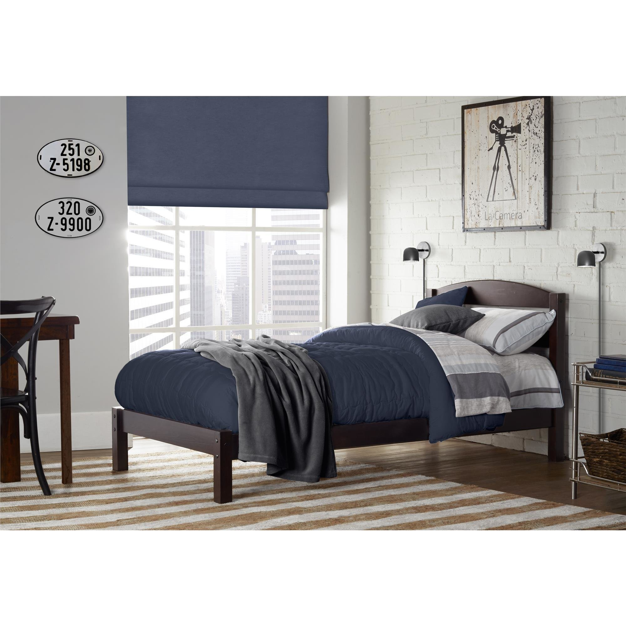 Best Dorel Braylon Espresso Twin Bed With Pictures