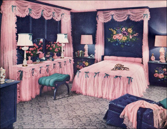 Best 1950 Pink Bedroom Published In The July 1950 Edition Of A… Flickr With Pictures