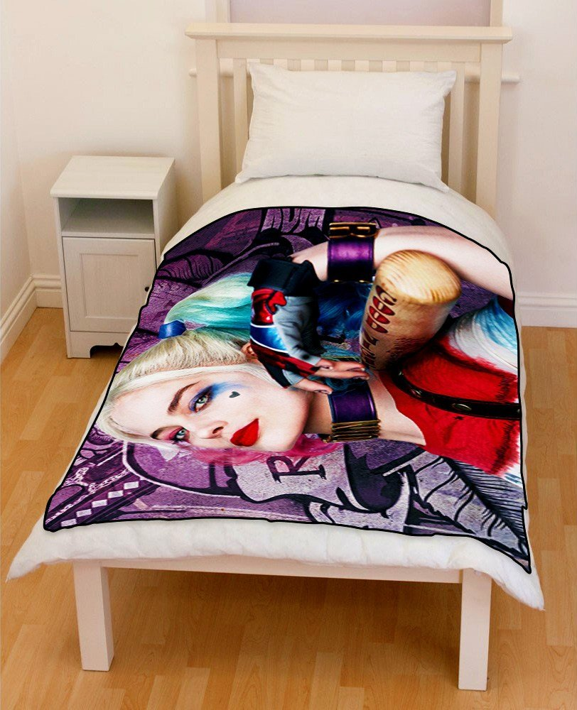 Best S**C*D* Squad Harley Quinn Bedding Throw Fleece Blanket With Pictures