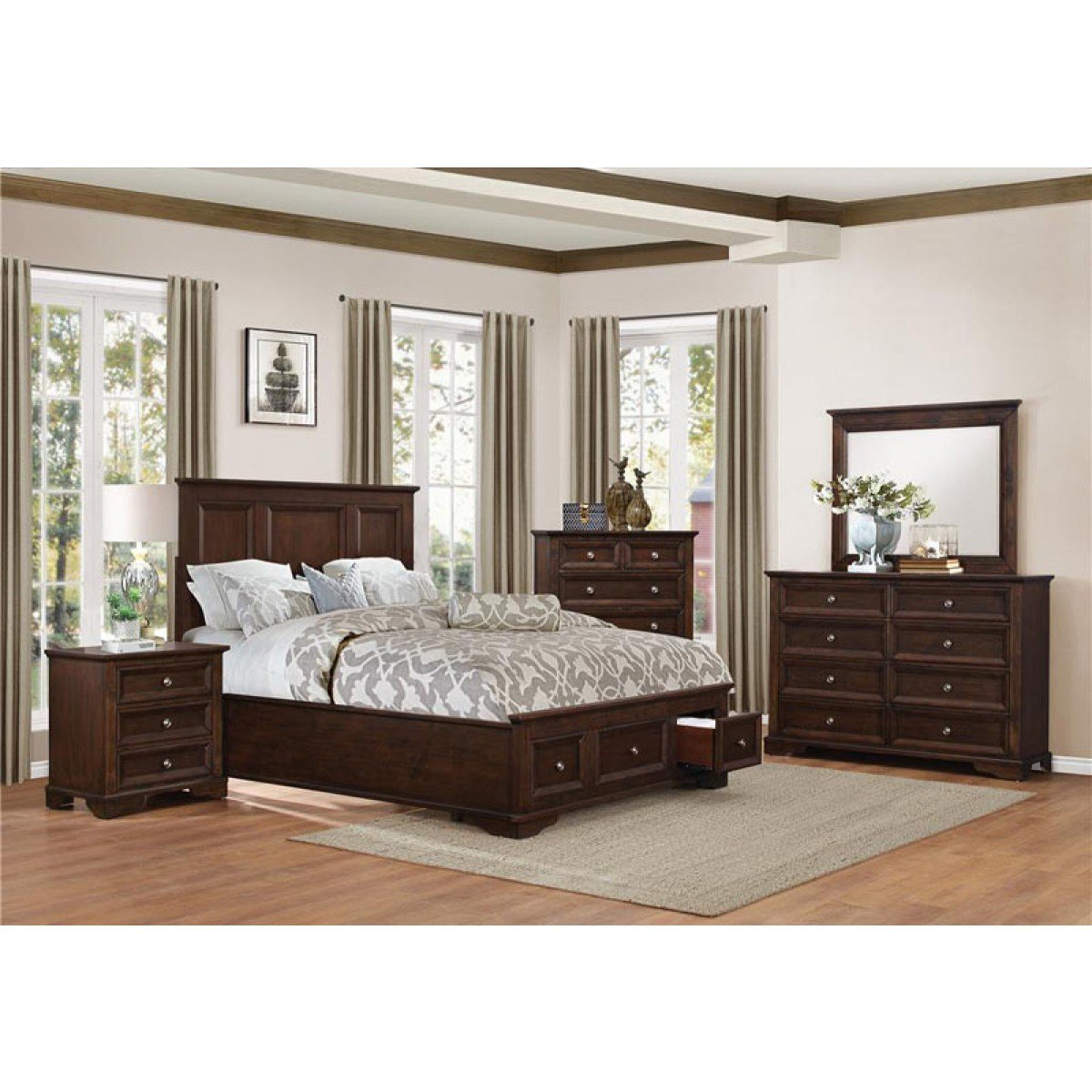 Best Homelegance Eunice 5 Piece Eastern King Bedroom Set With Pictures