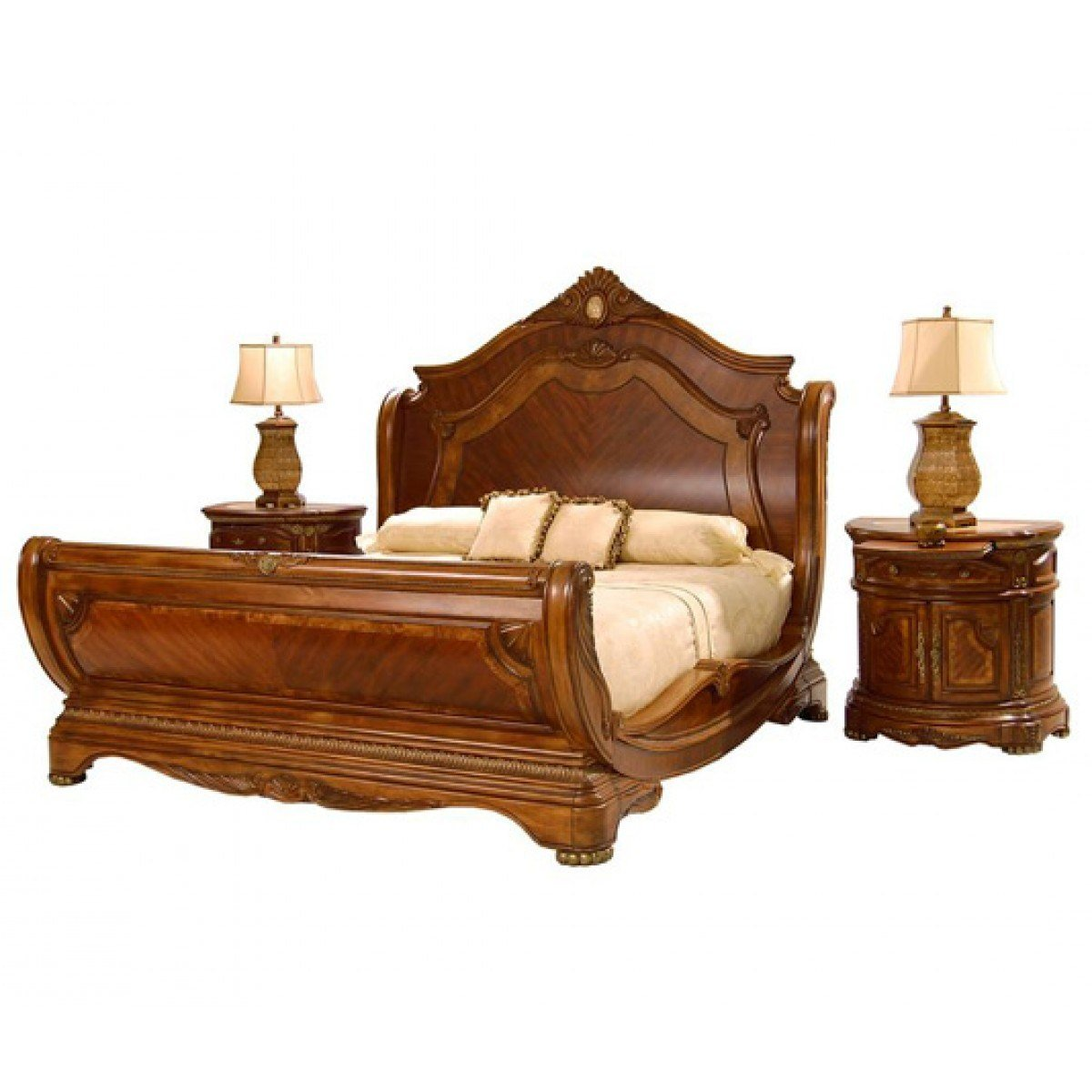 Best Aico Furniture Cortina 3 Piece Queen Sleigh Bedroom Set With Pictures