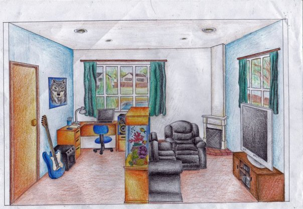 Best One Point Perspective Hs Art With Pictures