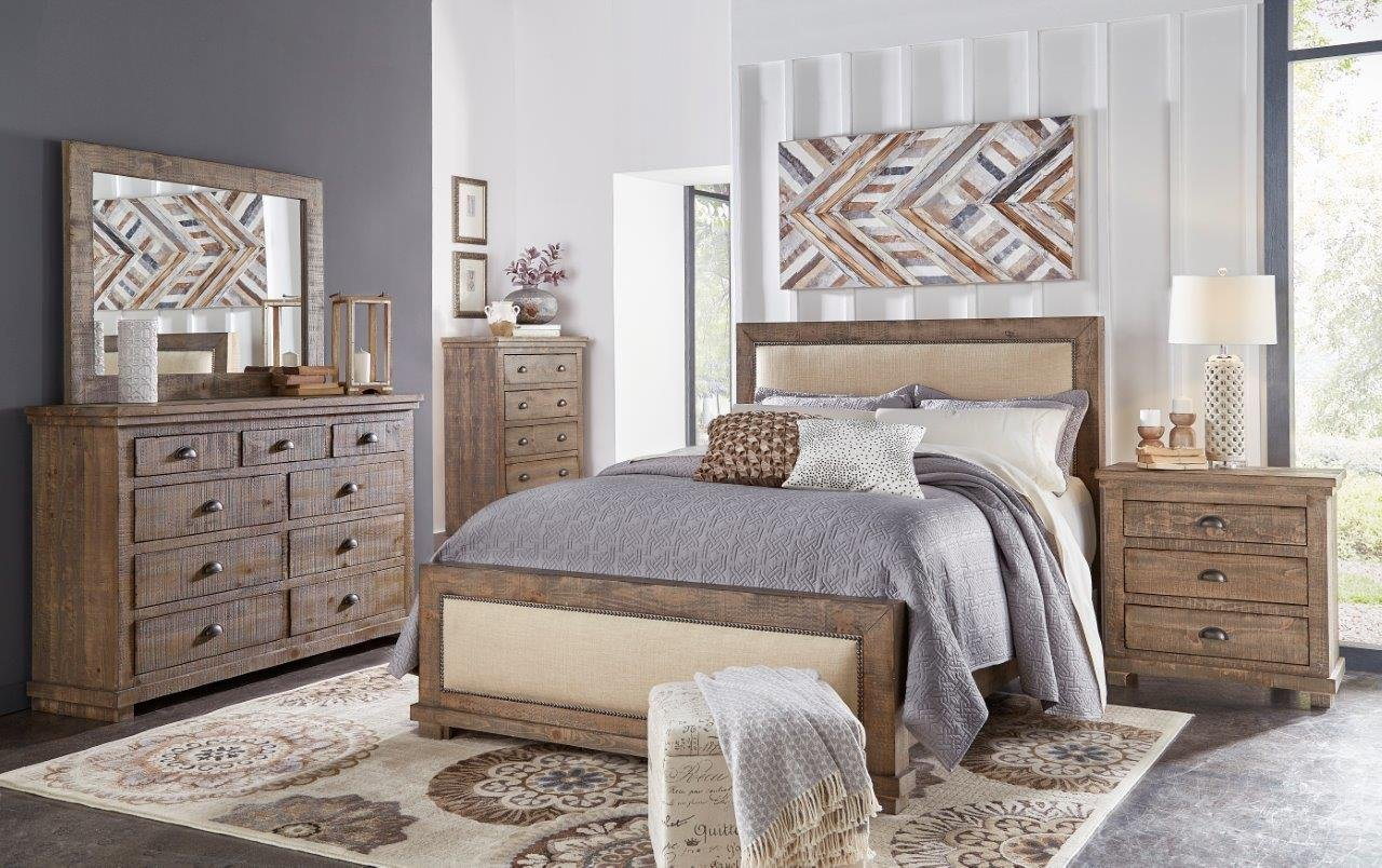 Best Pine Gray Casual Rustic 6 Piece King Bedroom Set With Pictures