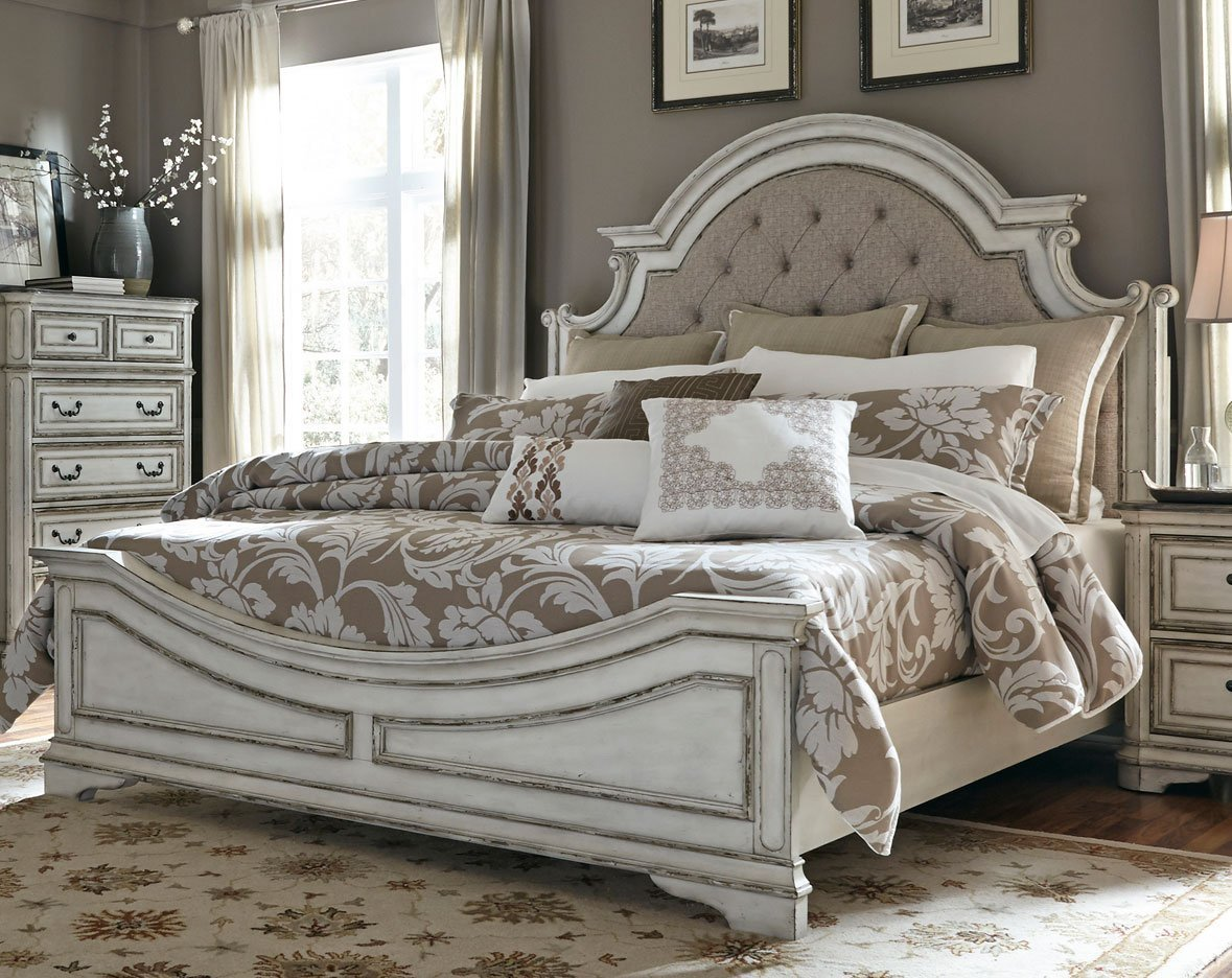 Best Antique White Traditional 6 Piece King Bedroom Set With Pictures