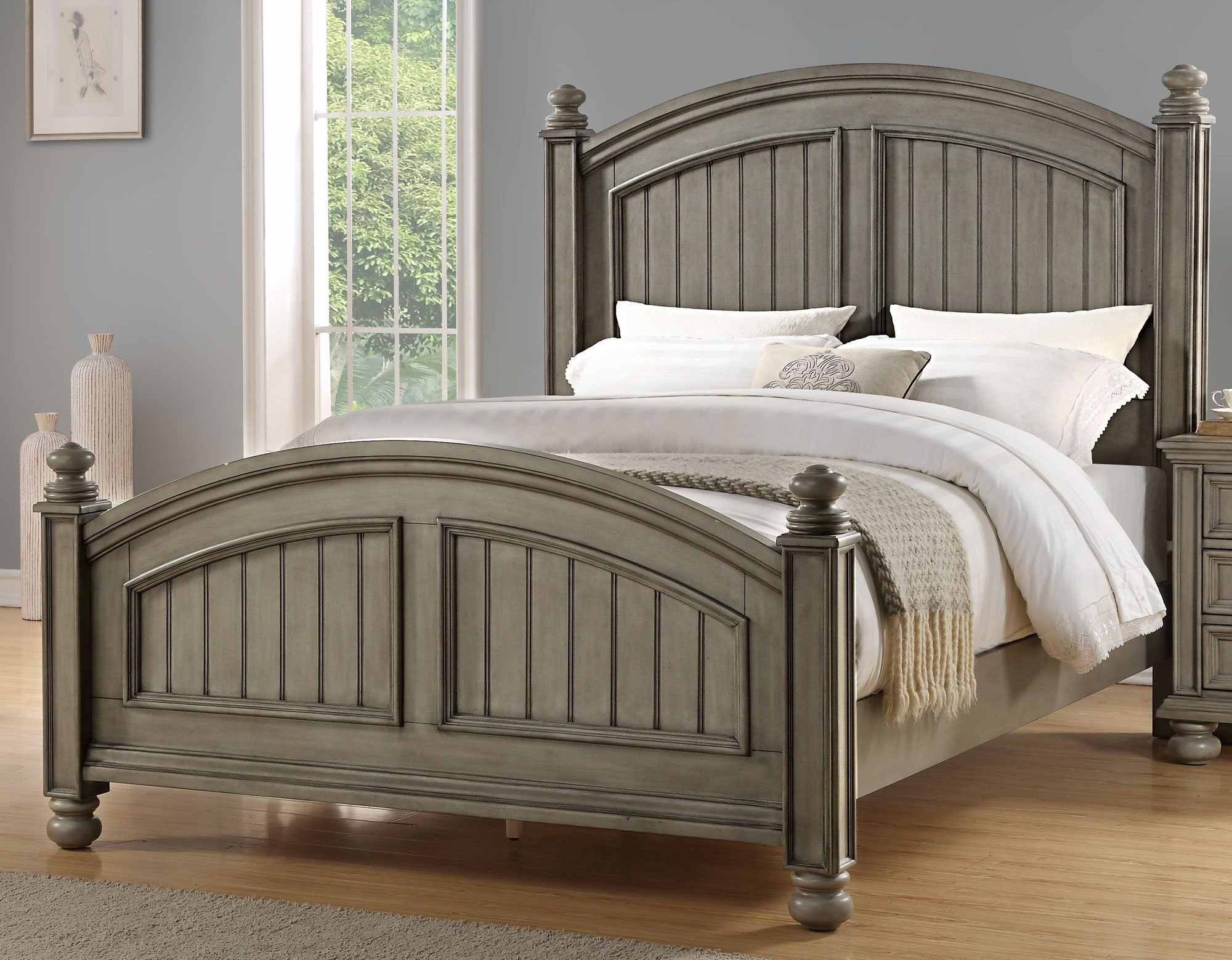 Best Casual Classic Gray 6 Piece King Bedroom Set Barnwell With Pictures