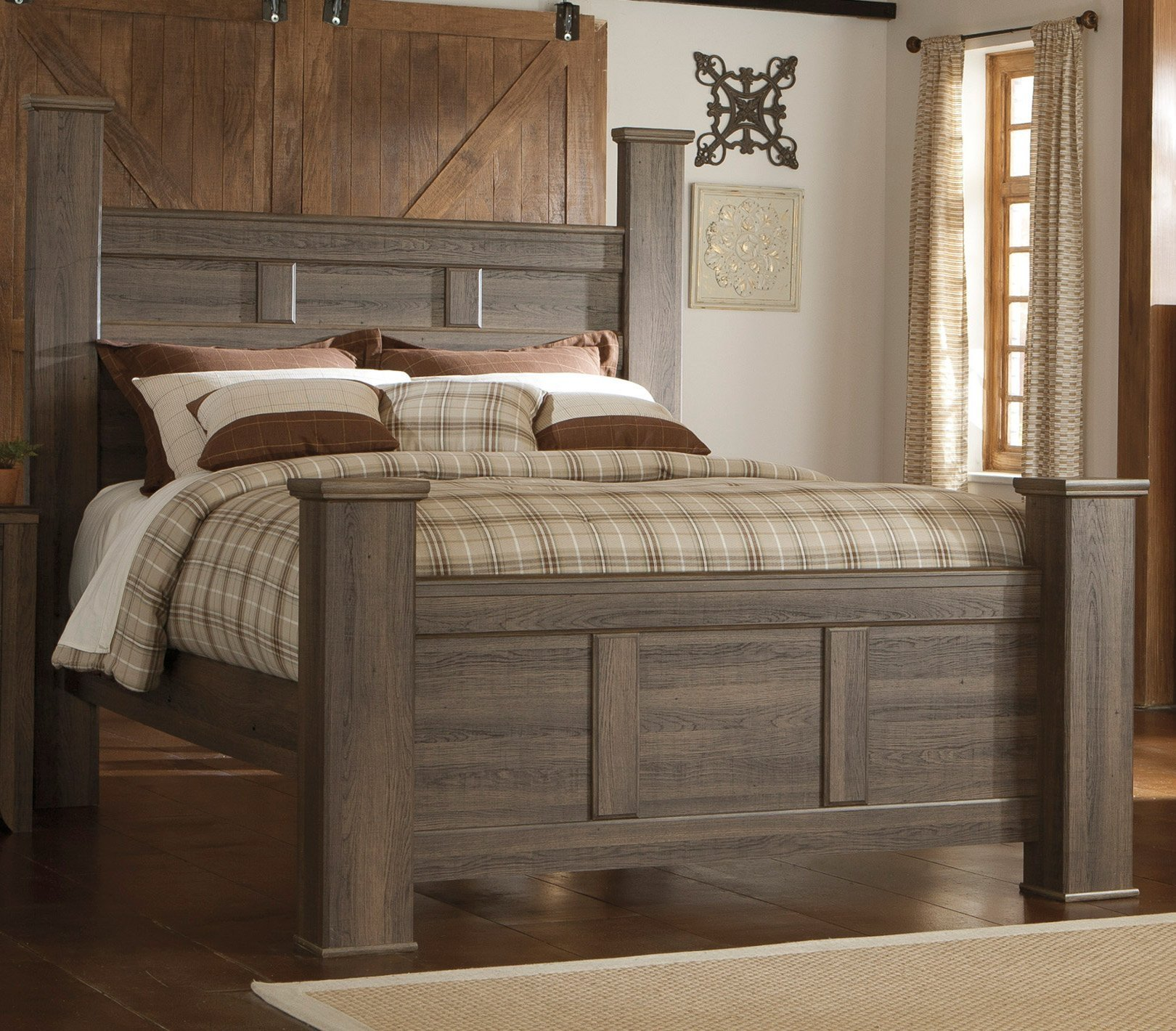 Best Driftwood Rustic Modern 6 Piece Queen Bedroom Set Fairfax Rc Willey Furniture Store With Pictures