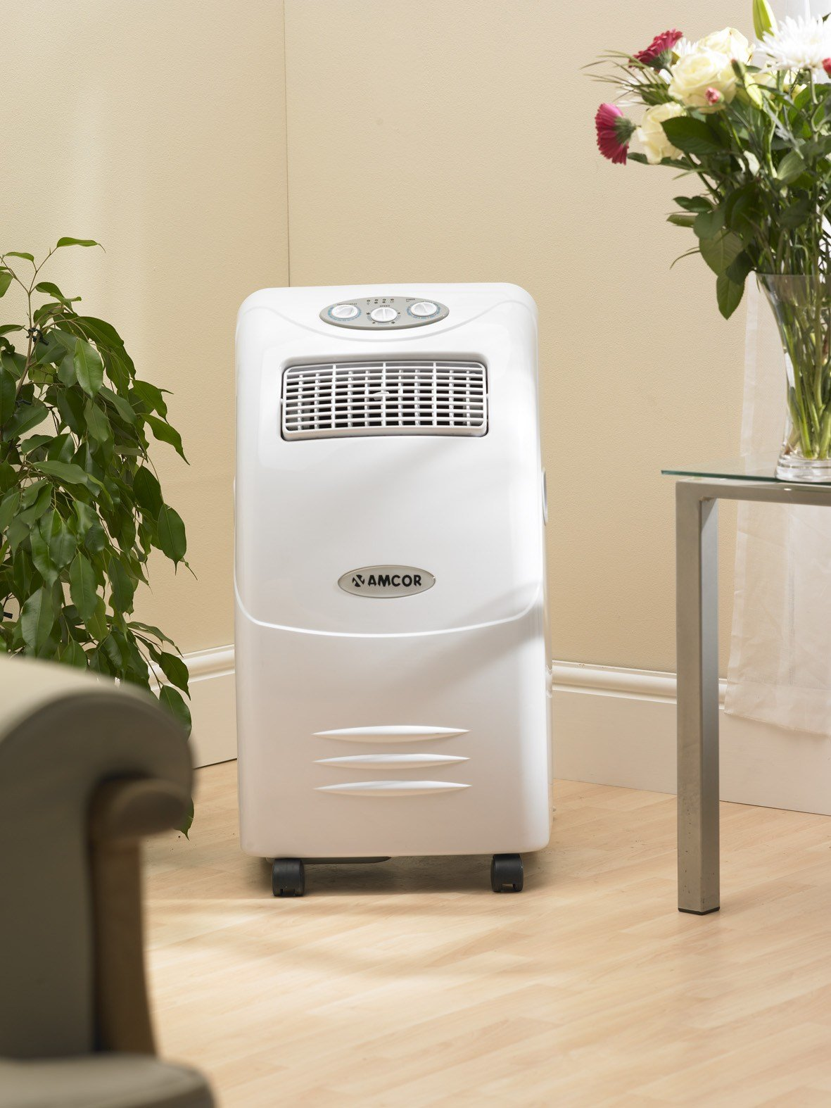 Best Amcor Amb10Ke 2 4Kw 8 000Btu Quiet Portable Bedroom Air With Pictures