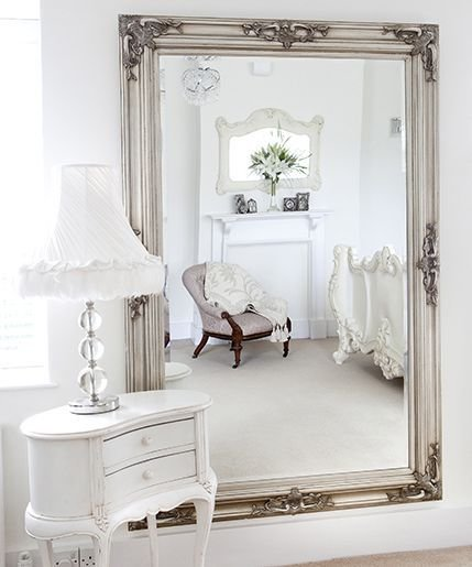 Best Classic Ornate Silver Mirror The White Love The And Love It With Pictures
