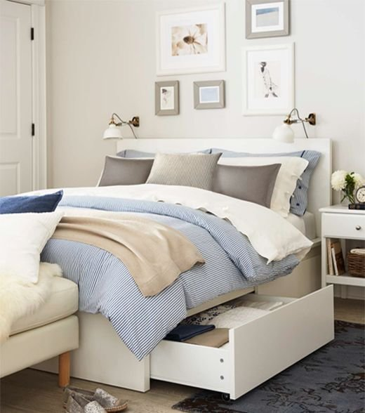 Best Malm Queen Bed Frames And Storage Drawers On Pinterest With Pictures