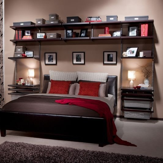 Best Howards Storage World Elfa Bedroom Wall Custom Unit With Pictures