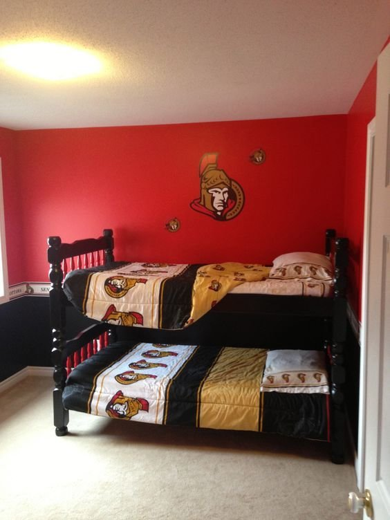 Best My Son S Ottawa Senator S Bedroom Boys Bedroom With Pictures