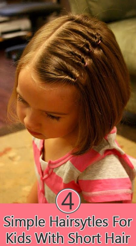 Free 4 Simple Hairstyles For Kids With Short Hair Girls For Wallpaper