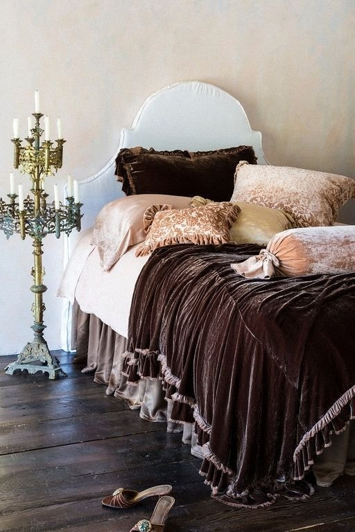 Best Velvet Bedding Velvet Pinterest Brown Candles And Blankets With Pictures