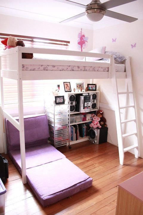 Best Again My T**N Daughters Bedroom With Futon Chair Opened To With Pictures
