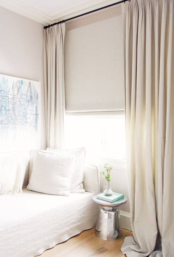 Best Neutral Curtains Curtains And White Bedrooms On Pinterest With Pictures
