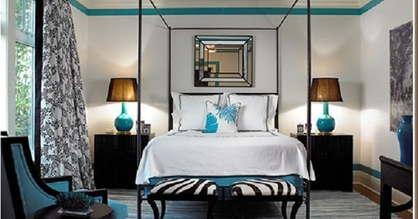 Best Black Cream And Turquoise Bedroom Love The Zebra X With Pictures