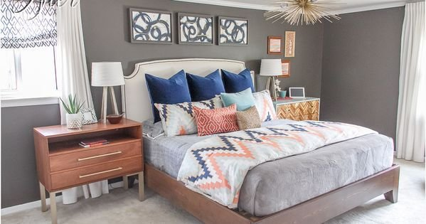 Best Love This Bedroom Color Scheme Navy Coral Light With Pictures