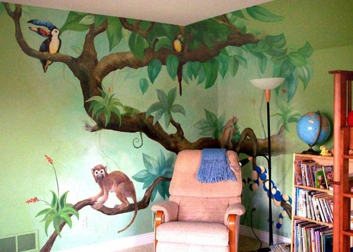 Best Reading Corner Jungle Tree Wall Murals Pinterest With Pictures
