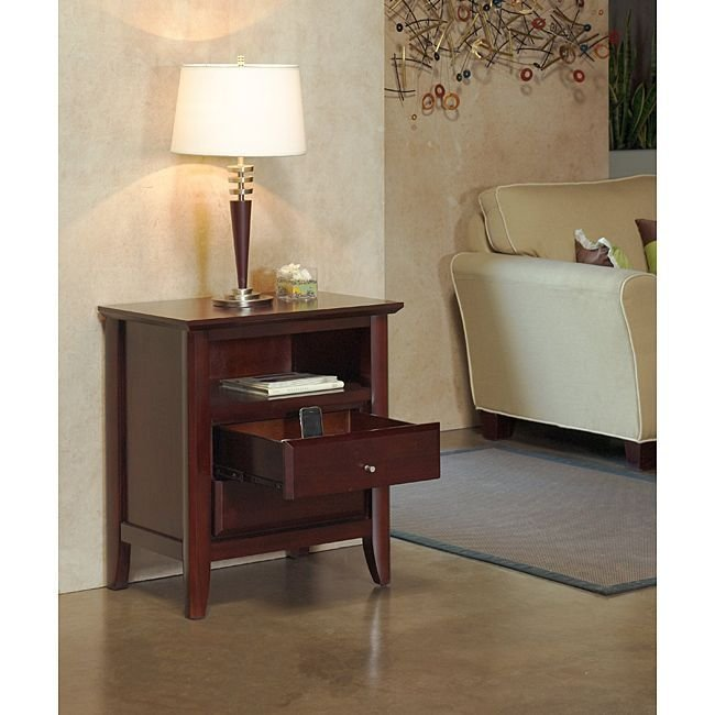 Best Contemporary Shaker Nightstand With Charging Station By With Pictures