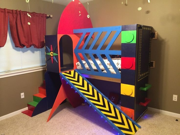 Best Rocket Ship Toddler Bed Space Rocketship Theme Toddler With Pictures