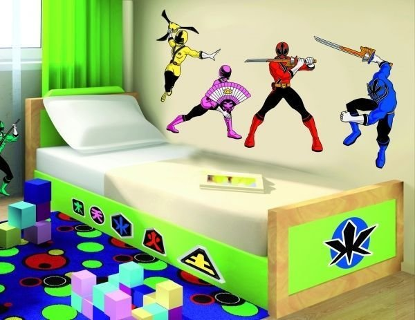 Best Power Rangers Wall Decor Vinyl Decal Sticker Art Kids Room With Pictures