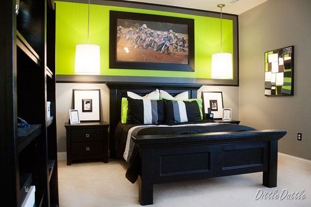 Best Lime Green Gray And Use Chalkboard Paint For The Black With Pictures