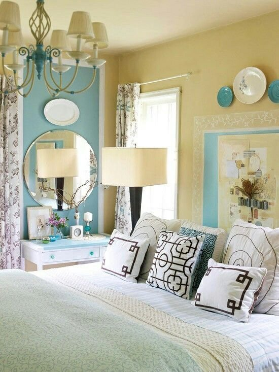 Best Blue And Yellow Bedroom Not So Mellow Yellow Pinterest Accent Colors Colors For Bedrooms With Pictures