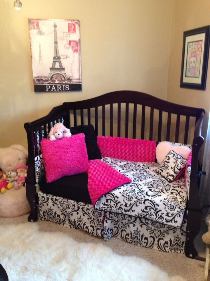 Best 53 Best Images About Pink And Black Paris Bedroom Ideas On With Pictures